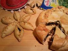 Empanada ze szpinakiem i kozim serem