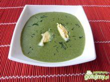 Exspresowa zupa szpinakowa z koperkiem