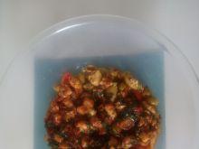 Farsz z kurczakiem, szpinakiem i pomidorkami