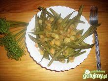 Fasolka szparagowa z grzankami.