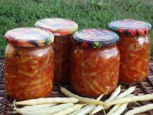 Fasolka szparagowa z marchewką i cebulą