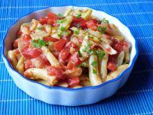 Fasolka szparagowa z papryką i pomidorami