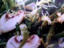fasolka szparagowa z pieczarkami