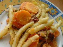 Fasolka z marchewką, groszkiem na ciepło