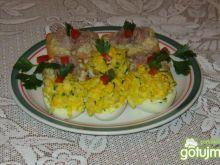Faszerowane jajka z pietruszką