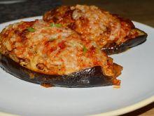 Faszerowany bakłażan mięsem mielonym i ryżem