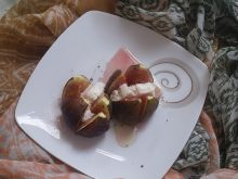 Figi zapiekane z kozim serem