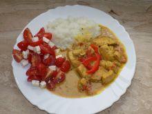 Filet w mleczku kokosowym z curry