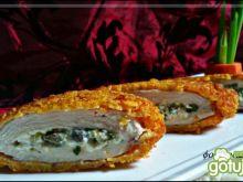 Filet z biało zielonym farszem