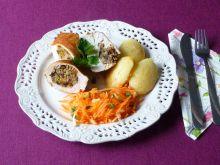 Filet z kurczaka kaszą i grzybami nadziany