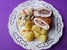 Filet z kurczaka nadziewany kaszą