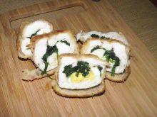 Filet z kurczaka z jajkiem i szpinakiem