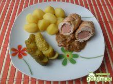 Filet z kurczaka z parówką