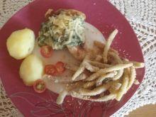 Filet z kurczaka z sosem szpinakowo-czosnkowym