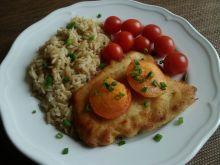 Filet z kurczaka zapiekany z morelami