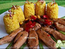 Filet z kurczka w potrawce z ryżem