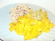 Filet z pieczarkami w curry