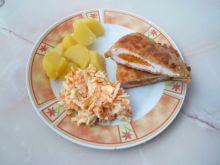 Filety z kurczaka nadziewane marchewką