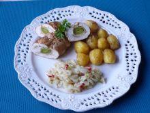 Filety z kurczaka z porą i serem