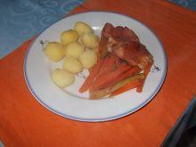 Filety z kurczaka zawijane w szynce