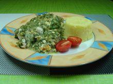 Filety z mintaja ze skorupą szpinakowo - serową