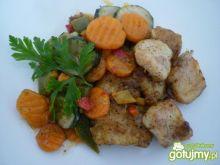Filety z pangi zapiekane z warzywami