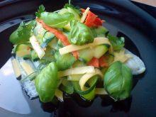flądra gotowana na parze z warzywami