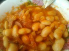 Fosolka w sosie pomidorowym