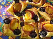 Francuskie ciasteczka śliwkowo - borówkowe