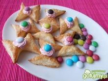 Francuskie ciasteczka z cukierkami