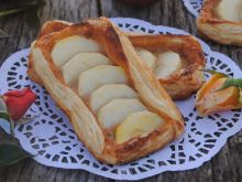 Francuskie ciastka z jabłkami  i toffi