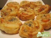 Francuskie krążki z łososiem i serem