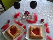Francuskie walentynkowe ciasteczka