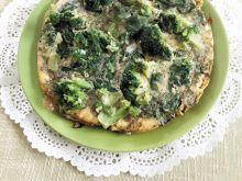Frittata z porem, brokułami i szpinakiem