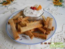 """""""Frytki"""" na slodko z kremem serowym"""