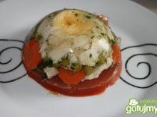 Galareta drobiowa z musem pomidorowym