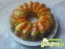 Galareta drobiowo - warzywna z jajkiem