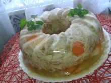 Galareta z kurczaka w formie babki