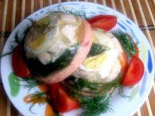 Galaretka drobiowa z musem pomidorowym