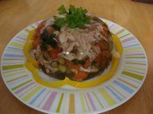 Galaretka drobiowa z warzywami