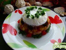 Galaretka warzywna w białej czapie