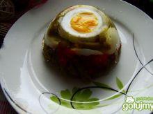 Galaretka warzywna z jajkiem