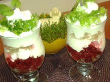 Galaretkowy deserek ze śmietaną i mascarpone