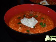 Gęsta pomidorowa z ryżem
