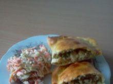 Giga pierogi a'la kebabowe z piekarnika