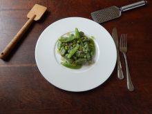 Gnocchi verdi z groszkiem cukrowym