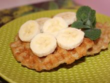 Gofry owsiano bananowe
