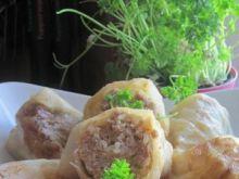 Gołąbki z farszem mięsno-ryżowym
