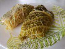 Gołąbki z farszem ziemniaczano-marchewkowym