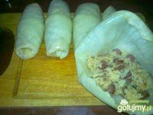 Gołąbki z ryżem i kabanosami